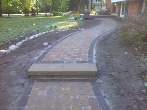 brick walkway Farmington