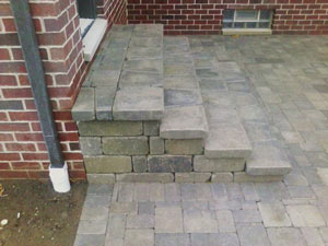 paver steps Plymouth