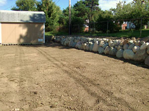 retaining wall installation Plymouth